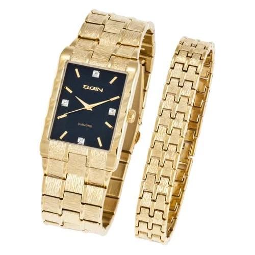 men s textured watch and bracelet set