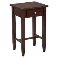 Tall Side Table, Espresso - Walmart.com