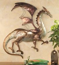 Tin Dragon Wall Art - Walmart.com