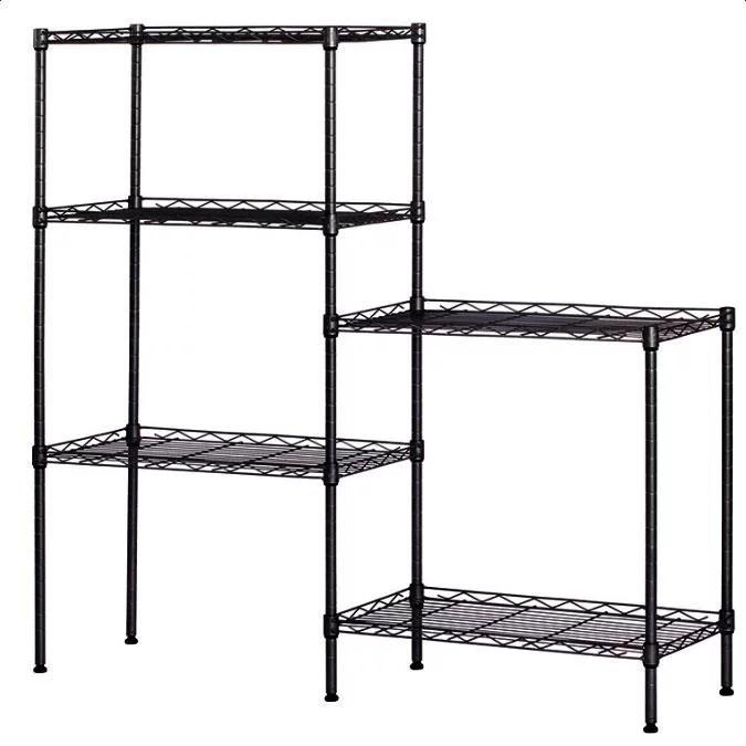 ktaxon heavy duty multi layer changeable 21 25 x 11 42 x 59 06 wire shelving rack shelf storage walmart com