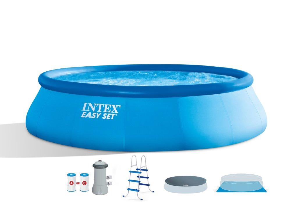 medium resolution of intex 15 x 42 easy set swimming pool complete kit with 1000 gph filter pump