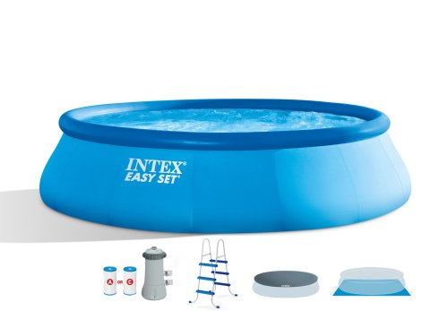 small resolution of intex 15 x 42 easy set swimming pool complete kit with 1000 gph filter pump