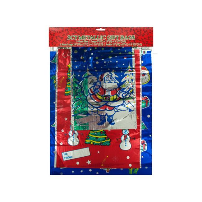 Bulk Buys SA13448 Metallic Christmas Gift Bags