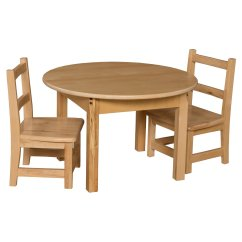 Round Table And Chairs Set Contemporary Office Canada Wood Designs Chair Walmart Com