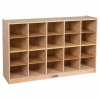 Birch Storage Cabinet with 20 Tray Cubbies - Walmart.com
