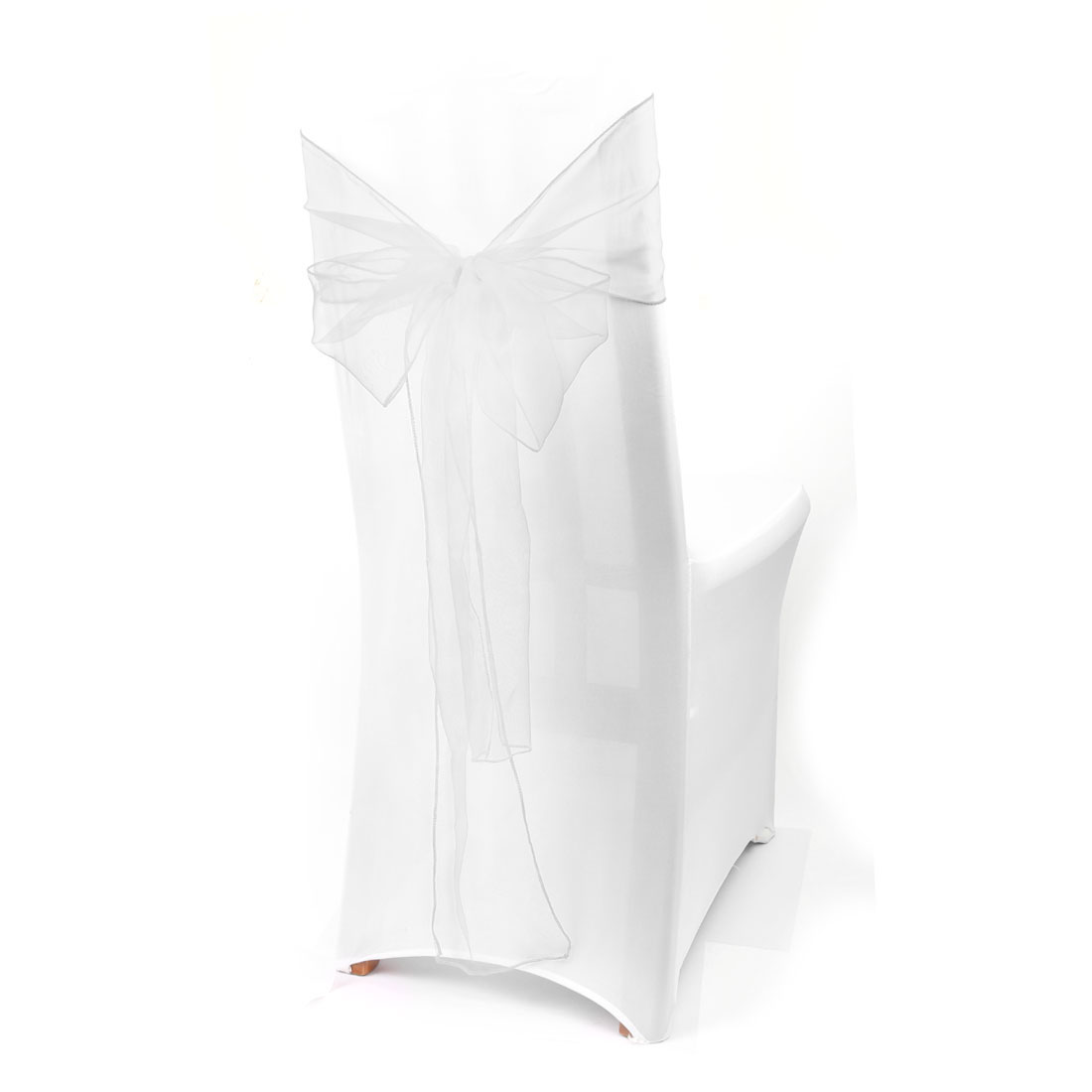 paper chair covers for weddings bathroom stools and chairs organza cover sashes bow wedding party banquet decor set of 10 walmart com