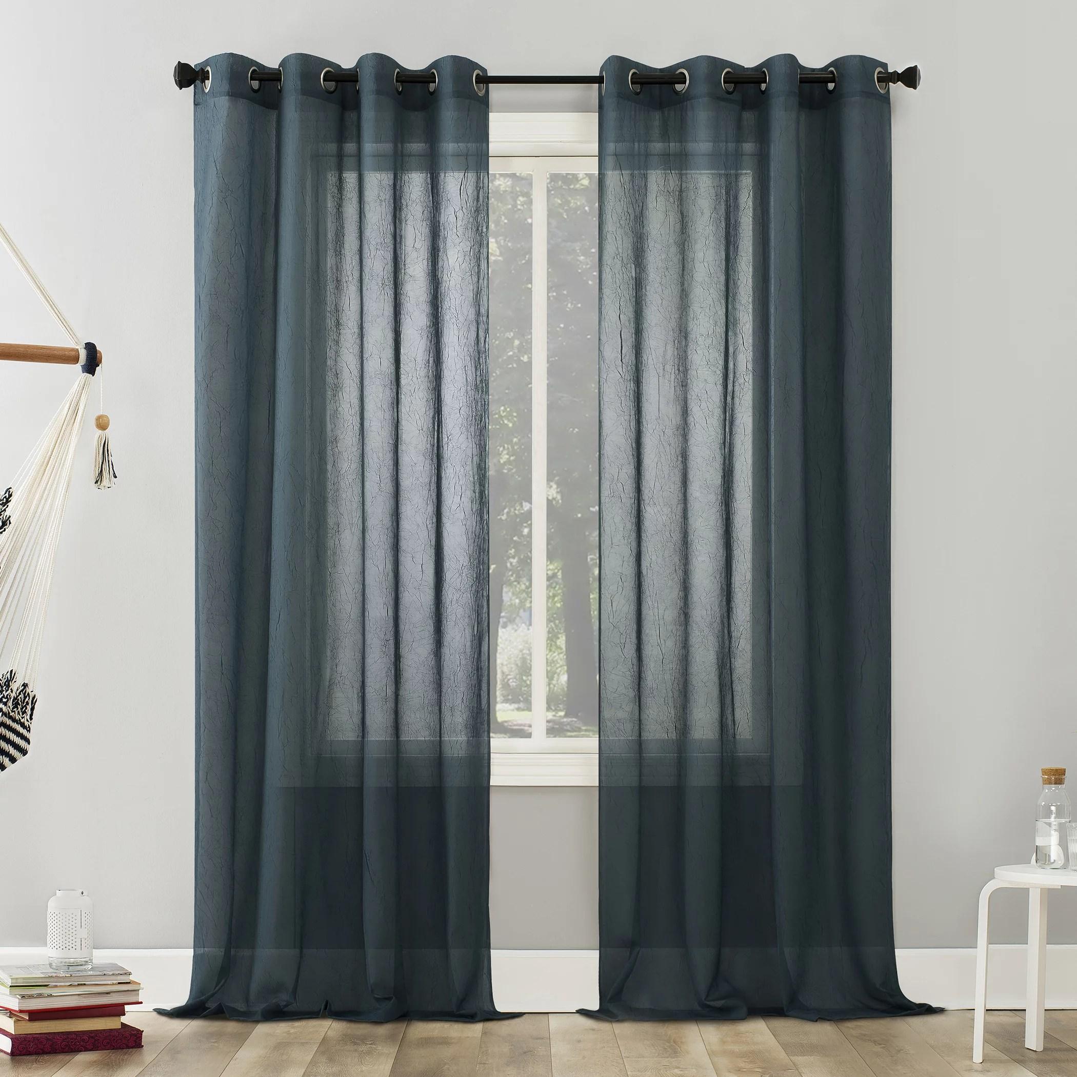 no 918 erica crushed voile sheer grommet curtain panel walmart com