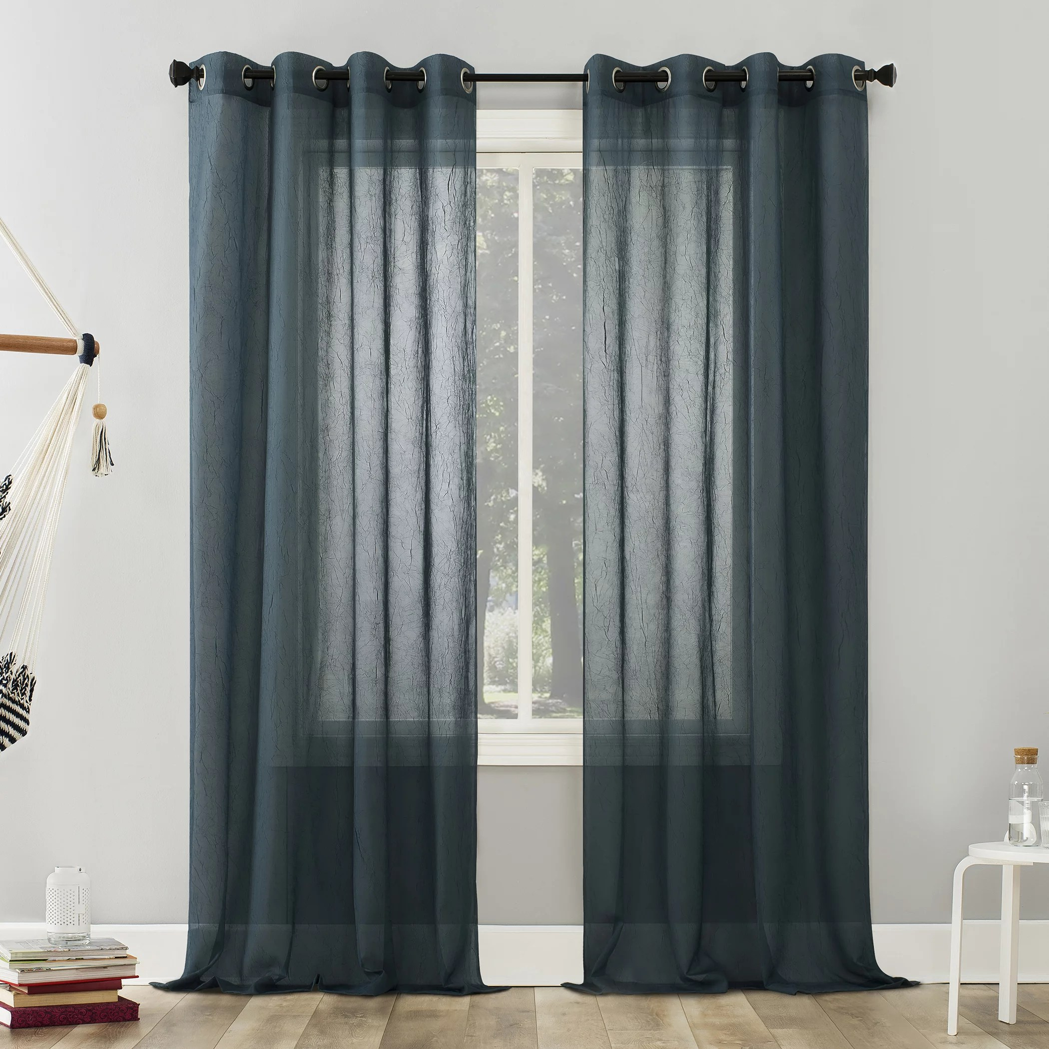 no 918 erica crushed voile sheer grommet curtain panel