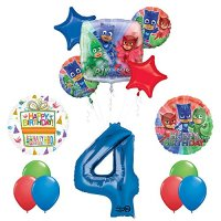 The Ultimate PJ MASKS 4th Birthday Party Supplies and ...