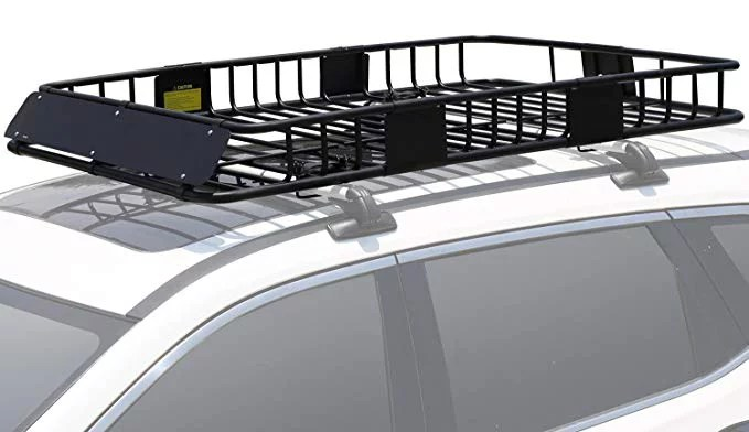 roof rack cargo basket with 150 lb capacity extension 64 x 39 x 6 car top luggage holder carrier basket