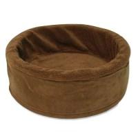 "17"" Cuddle Cup Dog Bed with Sheepskin - Walmart.com"
