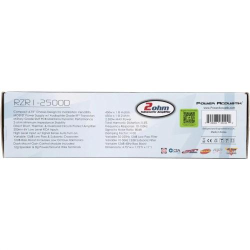 small resolution of power acoustik 2 ohm 2 500 watt max subwoofer amplifier 5 pc box walmart com