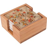 Thirstystone Impressions Square Bamboo Holder for ...