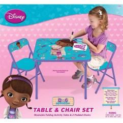 Doc Mcstuffin Chair Light Blue Chairs Disney Mcstuffins On The Go Activity Table Set Walmart Com