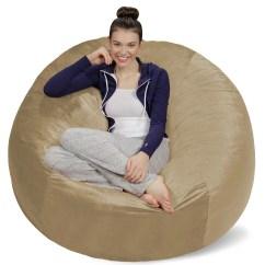 Foam Bean Bag Chair Desk Ottoman Sofa Sack Bags 5 Foot Feet Cozy