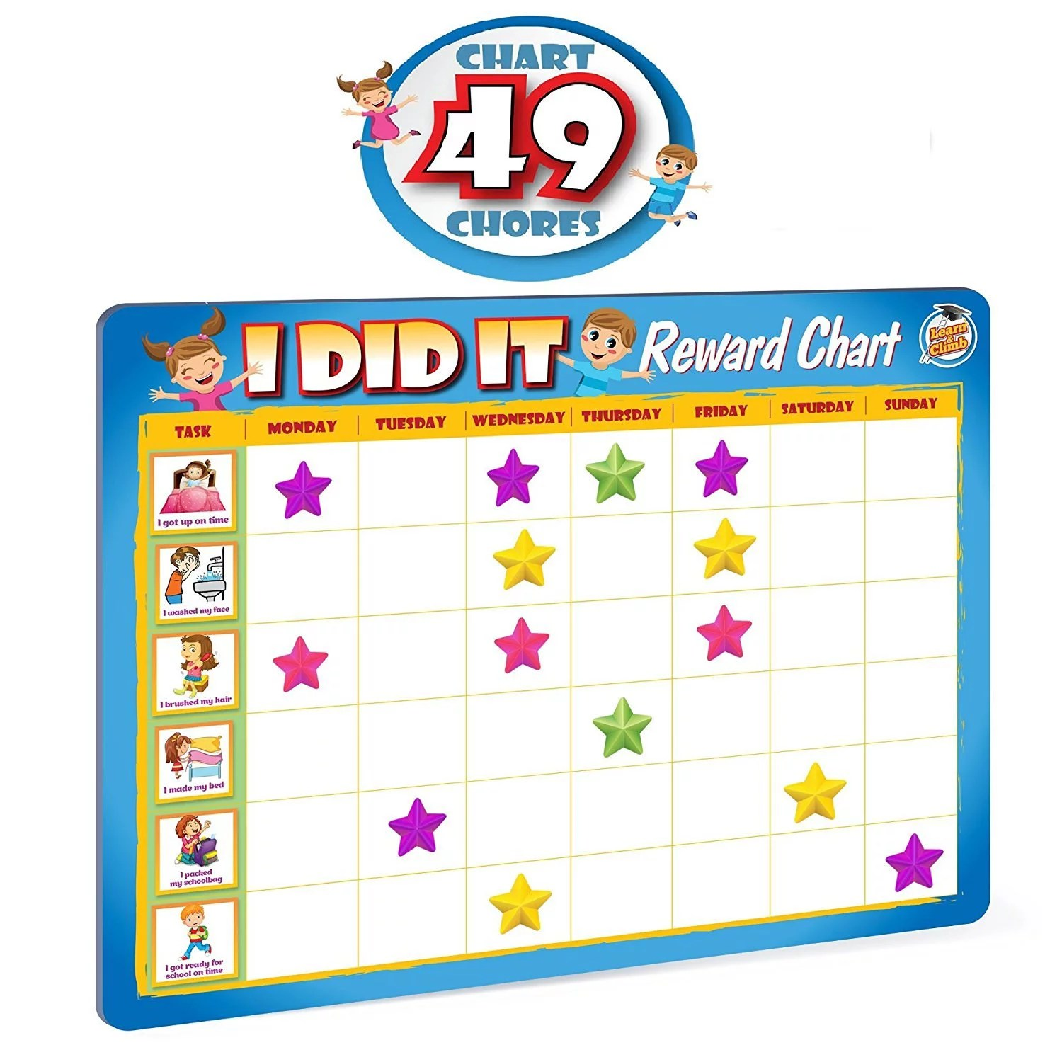 rewards chore chart for