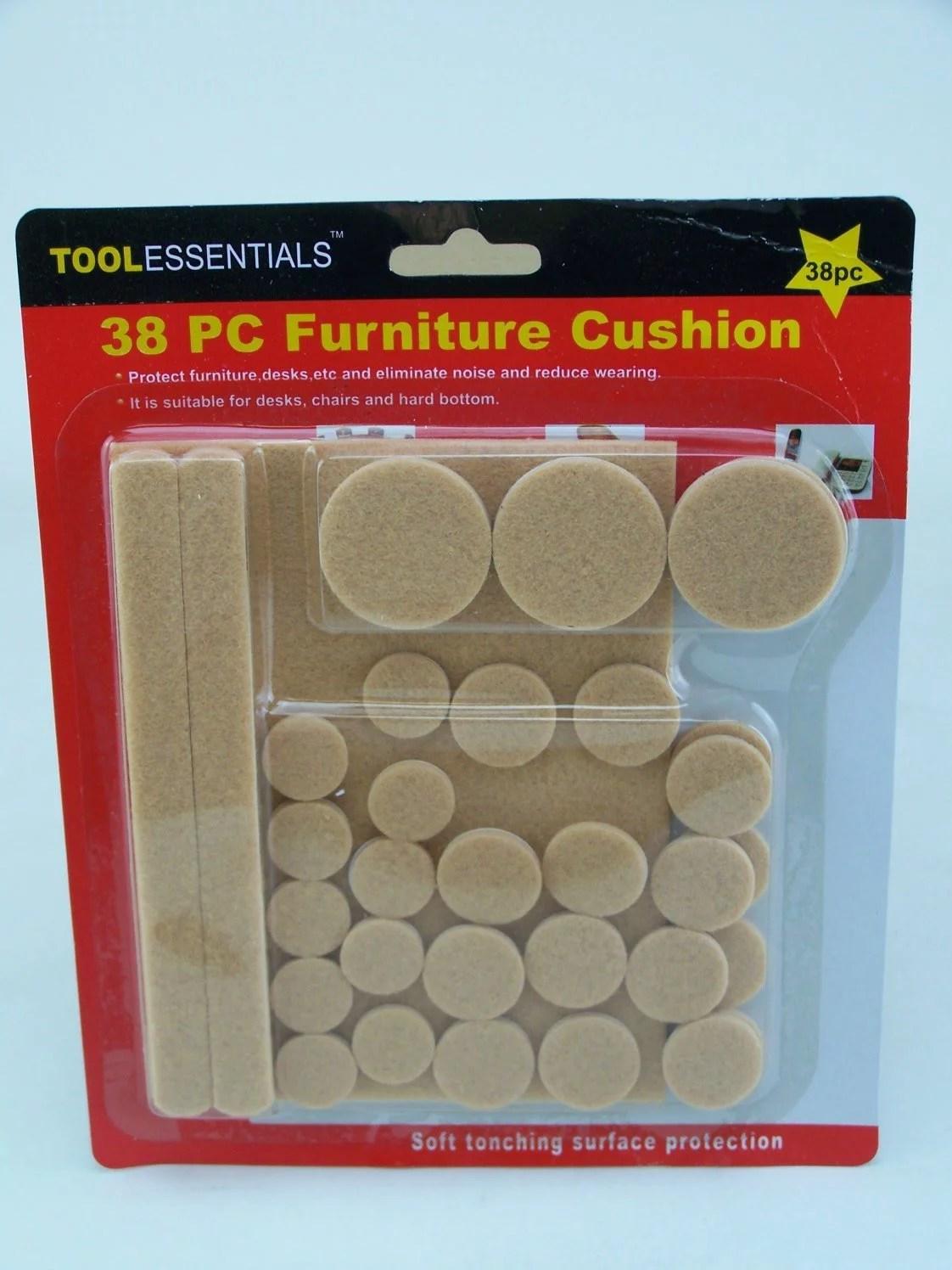 38 Pack Self Adhesive Floor Protectors Furniture Felt Round Pads