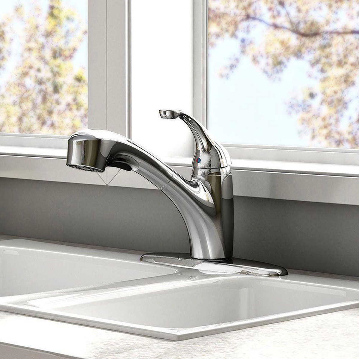 american standard jardin single handle pull out spray kitchen faucet