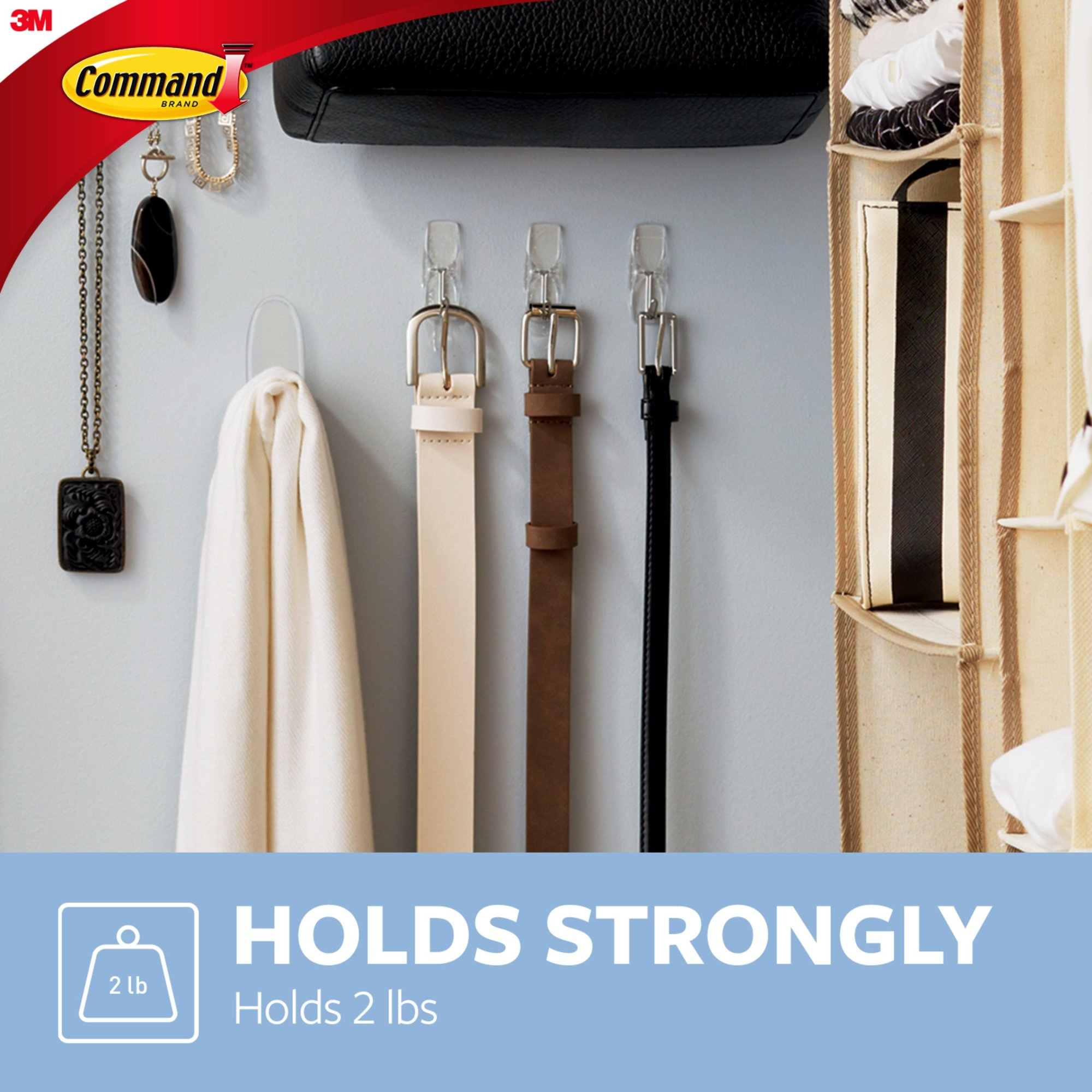 hight resolution of command wire hook value pack clear medium 6 hooks 8 strips pack walmart com