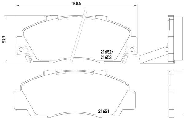 Go-Parts OE Replacement for 1991-1995 Acura Legend Front
