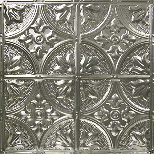 5 pack of 24x24 nail up tin ceiling tiles pattern 2 unfinished victorian floral covers 20 sq ft