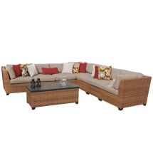 Tuscan 8 Piece Outdoor Wicker Patio Furniture Set 08a