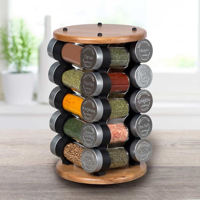 olde thompson 20 jar spice rack walmart com