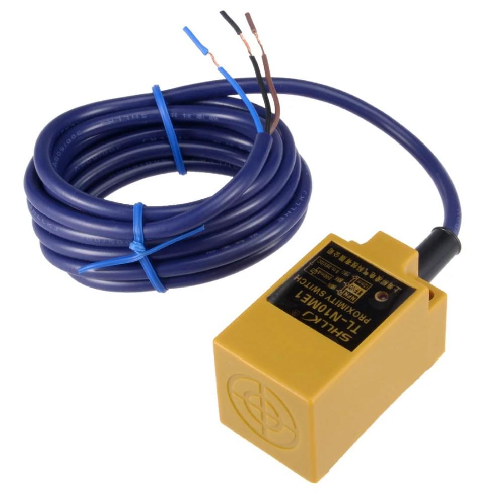 medium resolution of 10mm inductive proximity sensor switch npn no dc 6 36v 200ma 3 wire tl n10me1 walmart com