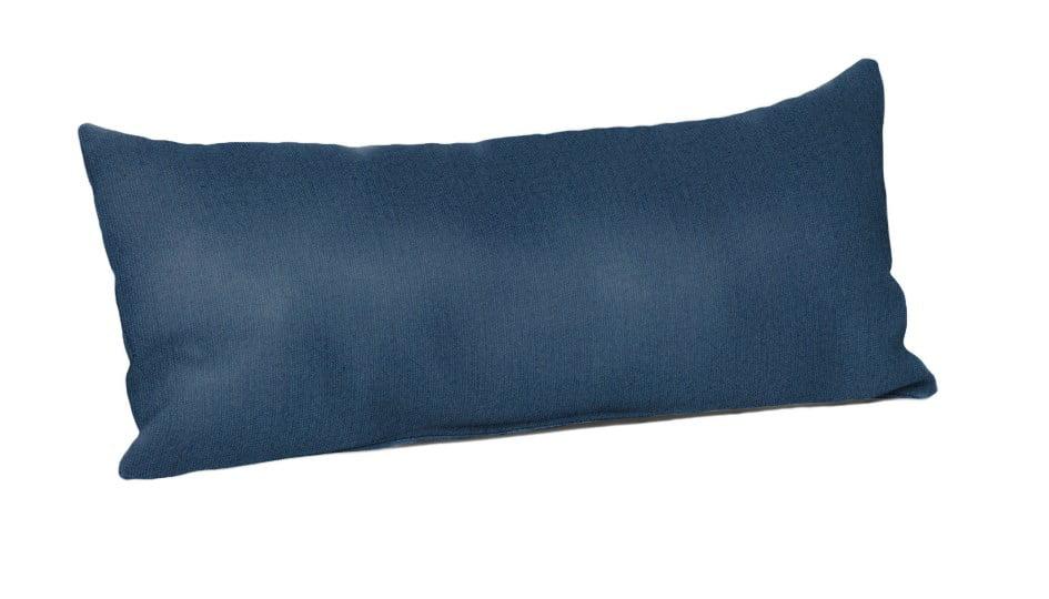 sunbrella rectangle 22 x 9 in throw pillow spectrum indigo