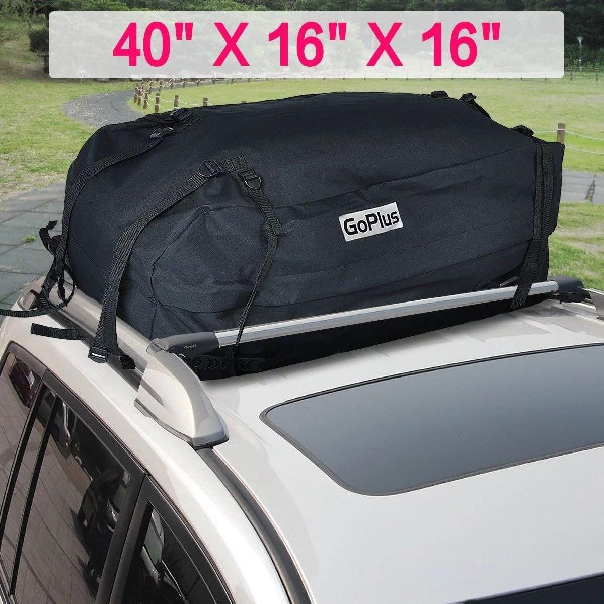 roof top car van suv waterproof luggage travel cargo rack storage bag carrier