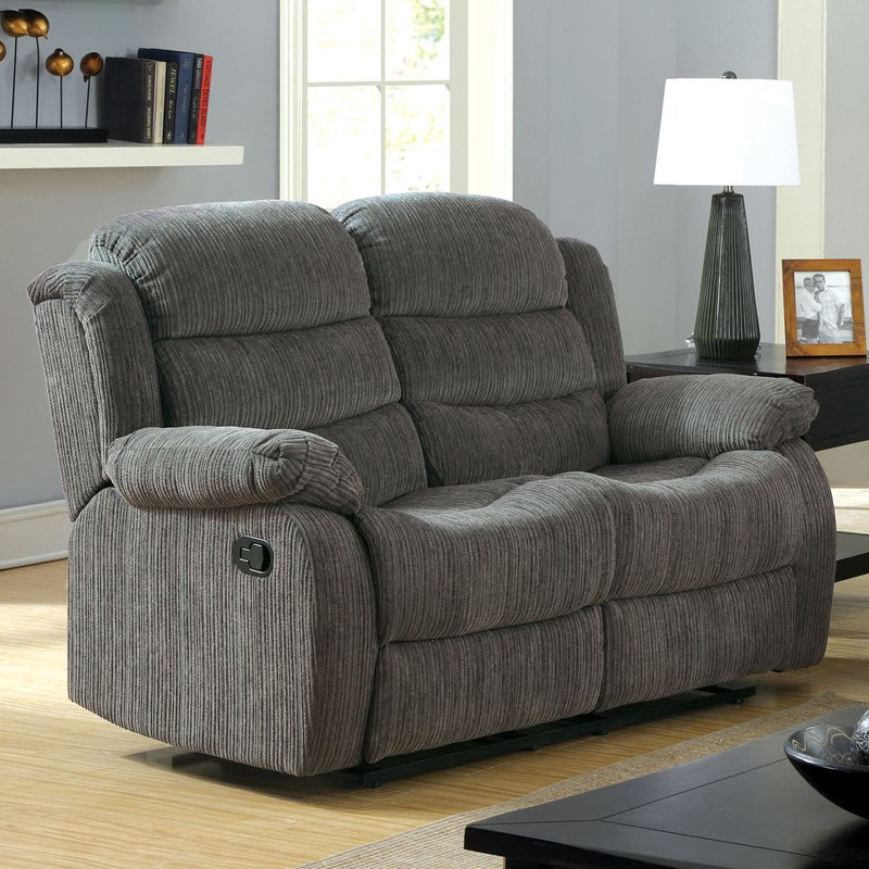 double recliner chairs designer office classic 2 seat bonded leather loveseat walmart com