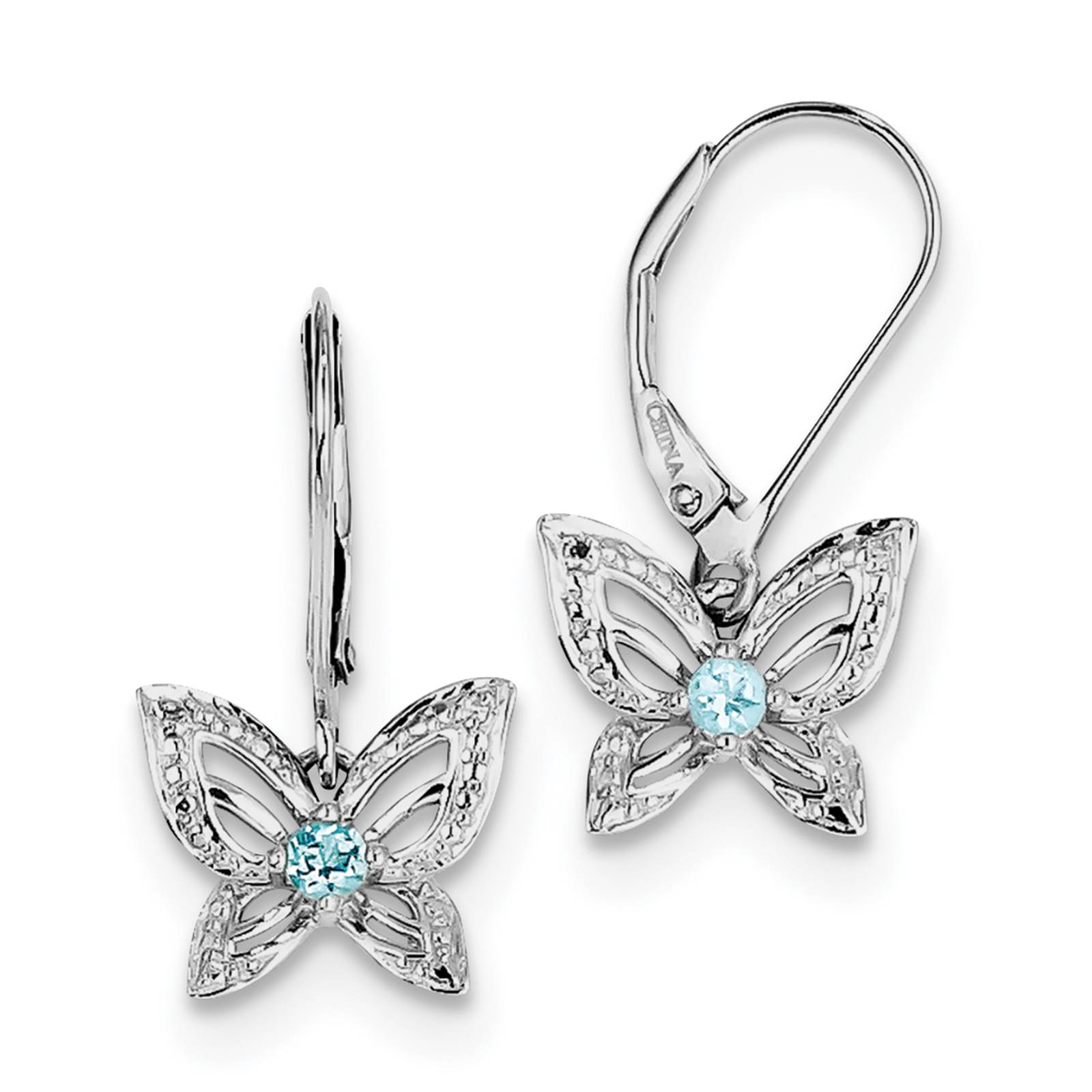 Fusion Collections Sterling Silver Rhodium Plated Blue