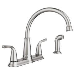 Kitchen Side Sprayer Open Sink Moen Brecklyn 2 Handle Faucet In Spot Resist Stainless Walmart Com