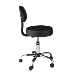 Office Chair Back Cushion Wheels Medical Stool Lab Exam Dental Doctor Adjustable Padded Seat