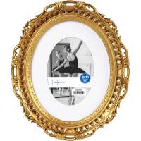 Mainstays 8x10 Matted to 5x7 Oval Picture Frame, Gold ...