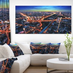 Large Canvas Art For Living Room Paint Ideas Colors Bangkok Expressway Aerial View Extra Print