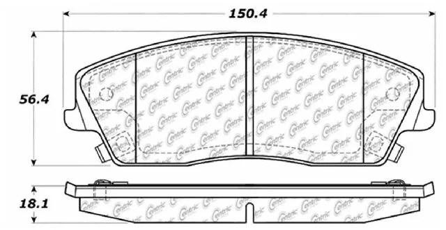 Go-Parts » 2009-2018 Dodge Challenger Front Disc Brake Pad