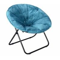 "Mainstays Plush Saucer Chair, Multiple Colors - 30""W x 26 ..."