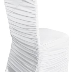 Ruched Spandex Chair Cover Childrens Wooden Rocking Chairs Wedding Linens Inc Ruffle Banquet Fitted Covers Ruffled Lycra Stretch Elastic Party Decoration White 5 Pcs