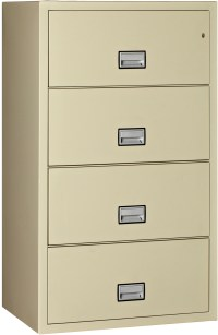 Phoenix Lateral 31 inch 4-Drawer Fireproof File Cabinet ...