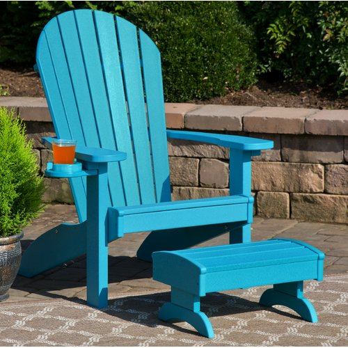 polywood adirondack chairs pottery barn kids doll high chair bayou breeze deniela with ottoman walmart com