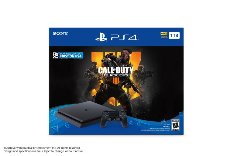 Sony PlayStation 4 1TB Slim System, w/ Call of Duty: Black Ops 4, 3003223