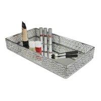 Home Basics Mesh Vanity Tray with Mirror - Walmart.com