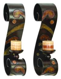 Candle Holder Wall Decor Sculpture - Set Of 2 - Walmart.com