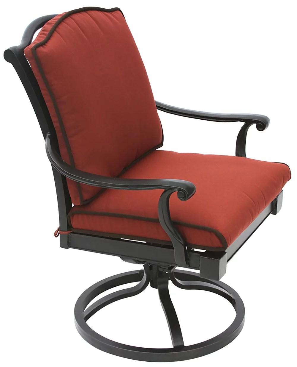 bahama cast aluminum outdoor patio swivel rocker chair with cushion walmart com