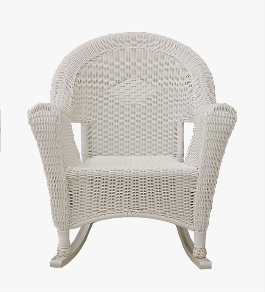 White Resin Wicker Rocking Chair Patio Furniture  Walmartcom