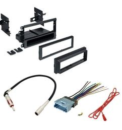 hummer 2003 2007 h2 car stereo cd player dash install mounting kit wire harness radio antenna walmart com [ 1000 x 1000 Pixel ]
