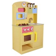 Kids Wooden Kitchen Floor Cupboards Teamson Little Chef Florence Classic Play Wood Grain Walmart Com