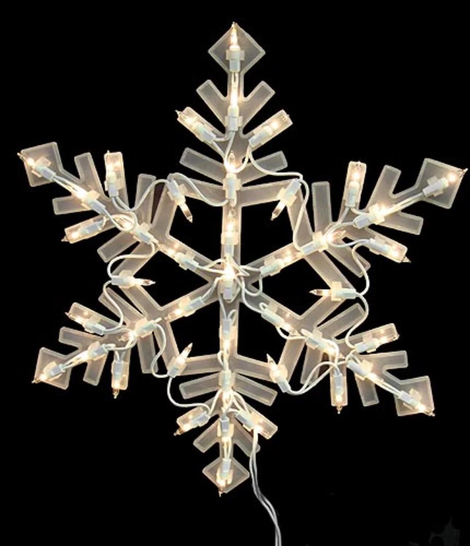 "16"" Lighted Snowflake Christmas Window Silhouette"