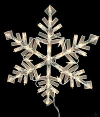 "16"" Lighted Snowflake Christmas Window Silhouette ..."
